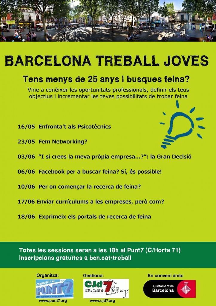 cartell xerrades Barcelona treball joves